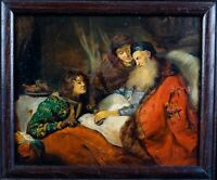 19th Century Oil Painting @death of King Lear' Sir David Wilkie English School