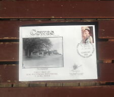 Cowes 1St Day New Pm Queen 50Th Peel & Stick Illustrated First Day Cover 2003