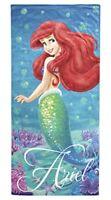 "Disney Little Mermaid Ariel Splash 100% Cotton 28"" X 58"" Plush Beach/Bath Towel"
