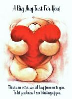 A Big Hug Just For You A5 Card Thinking of you, Missing You, Friends Caring Love