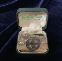 Vintage 1967 Sterling Silver Boy Scouts With Thanks Badge Boxed