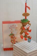 MY THIRD CHRISTMAS HALLMARK ORNAMENT 2013~BEAR~CANDY CANE~SERIES~FREE SHIP US~