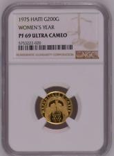 Haiti 200 Gourdes1975 Gold PCGS PR69DCAM International Women's Year Mtg:840 only