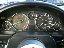 Fits Mazda MX5 MX-5 MK1 89-97 NA Chrome Dial Rings Trim Surrounds Polished Alloy