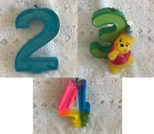 2-nd 3-rd 4-th Birthday cake candle Winnie The Pooh #2 #3 #4 Candles
