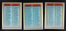 1984 OPC NHL LOT of 3 HOCKEY CHECKLISTS NM/MT o-pee-chee 394 395 396 unchecked