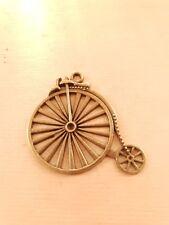 Hochrad Anhänger ♥ Steampunk Retro Fahrrad ♥ Schmuck Deko Charms Vintage Bronze