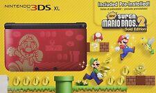 Nintendo 3DS XL Super Mario Bros 2 Gold Edition Bundle Handheld System NTSC New