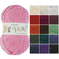 BIG VALUE DK Knitting Yarn by King Cole * Double Knitting Wool Many Colours 100g