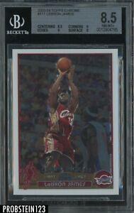 2003-04 Topps Chrome #111 LeBron James Cavaliers RC Rookie BGS 8.5 w/ (2) 9's