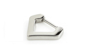 1.2mm Steel Hinged Septum Clicker + Inverted Triangle ~ Septum Piercing