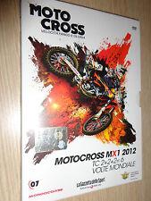 DVD N°7 MOTOCROSS VELOCITA' FANGO MX1 2012 TC2+2+2=6 VOLTE MONDIALE