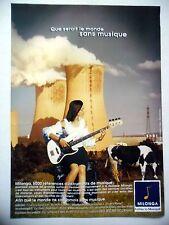 PUBLICITE-ADVERTISING :  MILONGA  07-08/2002 Basse Fender,Centrale,Vache