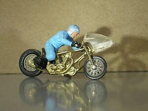 Vintage Britains HAGON Jap V Twin Drag Racer Motorcycle & original Bike Rider GC