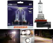 Sylvania Xtra Vision Two Bulbs H11 55W Head Light Low Beam Replacement Plug Play