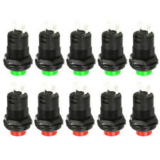 10pcs 12mm Momentary Push Button Car Boat Switch DS-427 DS227 green + red