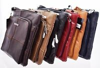 Lorenz Genuine Cowhide Leather Ladies Cross Body Shoulder Bag Real Womens Small
