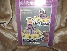 """Fibre Craft Easter Parade Crochet Doll pattern Crochet 13"""" Music Box Doll 10 1/2"""