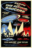 Earth vs. the Flying Saucers (1956) Style-A Joan Taylor 50s Sci-fi Poster 27x40