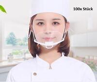 100x Stück Gesicht Visier Gesichtsschutz Hygiene   Face Shield Gesichtsvisier