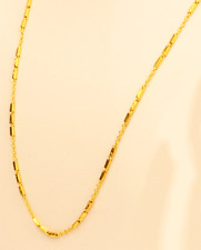 "22k gold necklace Link / Box chain   ( 22"" )"
