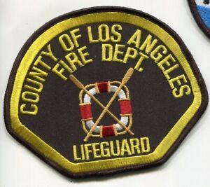 Comté Los Angeles Pompier Pd Fire Department Sauveteur Bardane Insignes