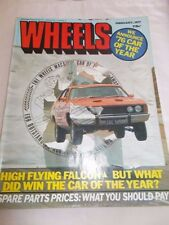 WHEELS - OZ CAR MAGAZINE - FEB 1977 - FORD FALCON - VW GOLF - PORSCHE -VOLVO 343