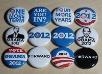 BARACK OBAMA campaign buttons badges pins President Democrat 2012
