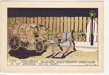 Guerre 39-45 WW2 satirique caricature anti allemagne blindés quittent Bruxelles