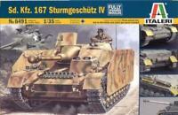 Italeri 1:35 WWII German Sd.Kfz 167 Sturmgeschutz StuG IV Plastic Kit #6491