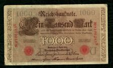 Germany 1000 Mark 1910 large bank notes Paper money