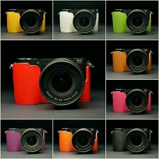Handmade Real Leather Half Case Camera Case bag for Samsung NX210 NX200 10 color