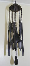 Cast Iron Hanging Bell Garden Ornament - Large Wind Chime Knife & Fork - CI64