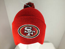 San Francisco 49ers NFL football winter hat Knit Beanie with Pom Top/ cuff New
