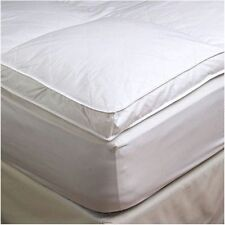 "2"" Twin Goose Down Mattress Topper Featherbed / Feather Bed Baffled"