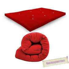 All Sizes Replacement Futon Mattress 9 Colours FREEPOST Red 2 Seater Double