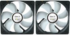 2 x GELID Solutions Silent 12 120mm Case Fans 1000 RPM, 37 CFM, 20.2 dBA