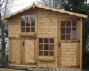 2 storey Wooden Playhouse/wendy house/play house/ 10ft x 5ft Mickey & Minnie