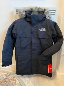 The North Face Mens Dryvent black down hooded parka coat , Size XS, RRP £400