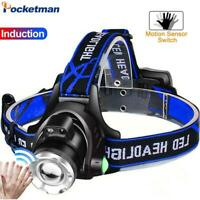 80000LM Led Headlamp L2/T6 Zoomable Headlight Flashlight by 18650 battery