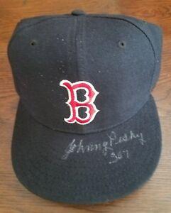JOHNNY PESKY Signed 307 Boston Red Sox Hat JSA Certified Auto Cap