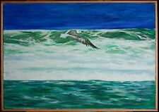 "Original Oil on Canvas ""Flight of the Gull"" 22 by 30 inches by Ross D Jahnig"