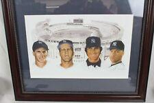 Framed Yankees Greats Limited Edition Lithograph Ken Branch Art Derek Jeter