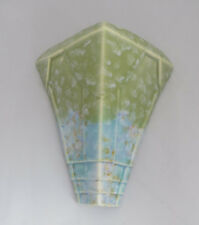 Florero De Bolsillo De Pared Art Deco Beswick modelos 503-moteado verde y azul