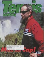 JOHN McENROE signed 2000 Tennis Week magazine BAS (Beckett) certified AUTOGRAPH