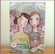"""CONNECTED ALWAYS WALL ART BY KELLY RAE ROBERTS 12"""" HIGH X 8"""" WIDE FREE U.S. SHIP"""
