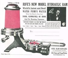 Rife's New Model Hydraulic Ram Water Pump Waynesboro Virginia 1884-1919 Book