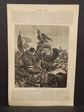Harper's Weekly 1Pg The Turkish Retreat from Kars 1878 B7#72
