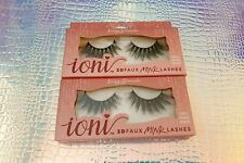 Set of 2 Ioni 3D Faux Mink Lashes Wispy Dramatic Free gift w/purchase