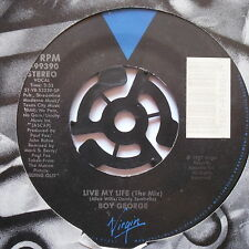 "BOY GEORGE - Live My Life - Excellent Condition 7"" Single Virgin7-99390"